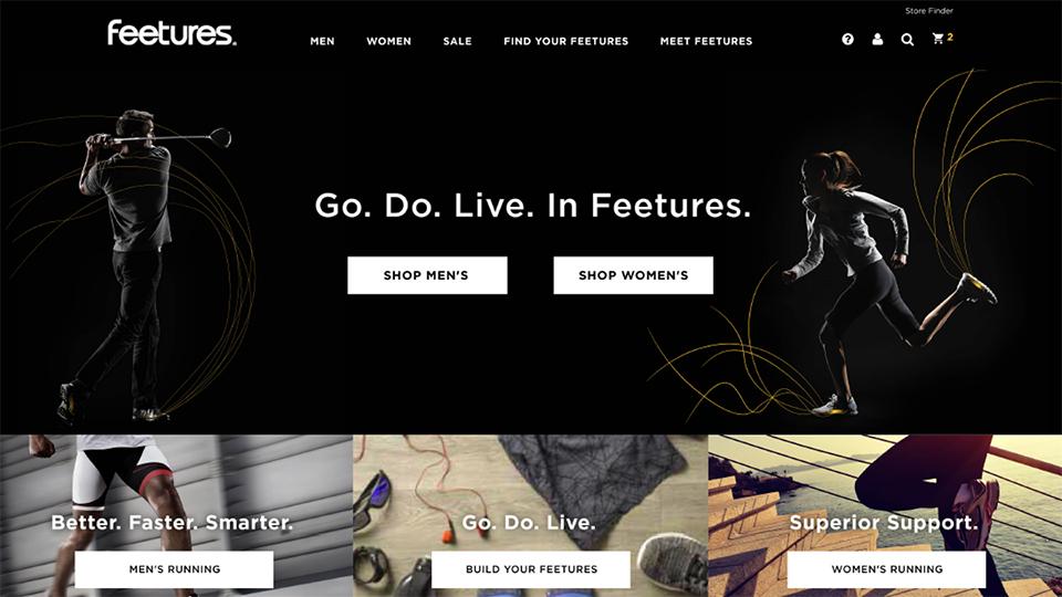Feetures Website